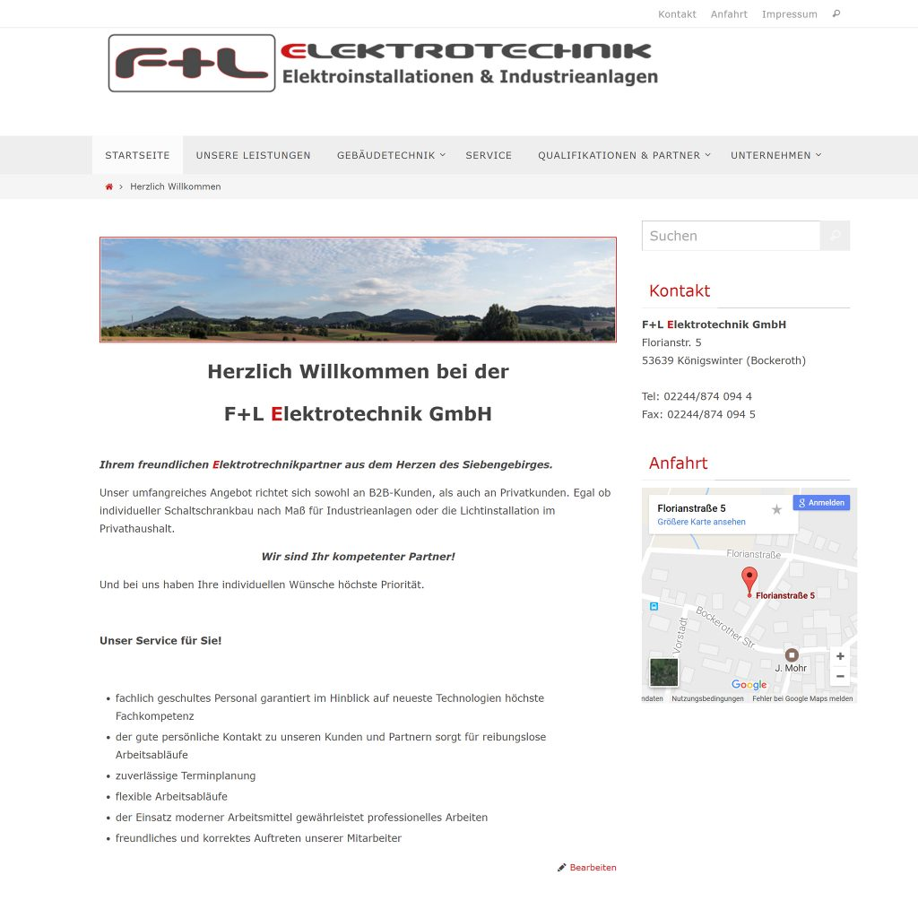 webseitenerstellung und webdesign durch Sebastian Lehmann