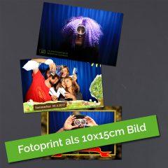 10x15cm Foto, wie es aus der Fotobox Düren kommt.